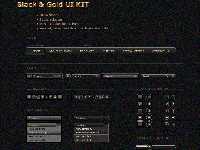 Black&Gold User Interface