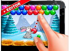 Bubble Shooter Easter Bunny - The Best GAME KIT + EDITOR for your Bubble Shooter Game! Combine 3 or more balls the same color for WIN!