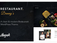 Free Dannys restaurant wordpress theme file and license