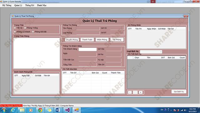 Full code phần mềm quản lý, quản lý quán karaoke, code (3 Layer) + Báo cáo, karaoke, quản lý bài hát