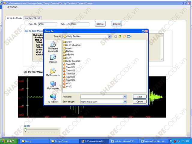 Lập trình xử lý và xác định tần số âm thanh trên máy tính C# + Báo cáo