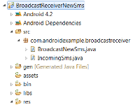 Incomming SMS Broadcast Receiver - Android Example