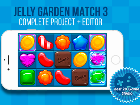 Jelly Garden - Match 3 Complete Project + EDITOR