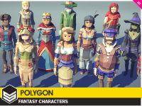POLYGON,Vikings Pack,Fantasy Characters