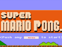 Source Code Game 2D Super Mario Pong