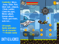 Super Raccoon Adventures,Platform 2D All In One (P2DAIO),Super Raccoon,source code game,P2DAIO fv1.0