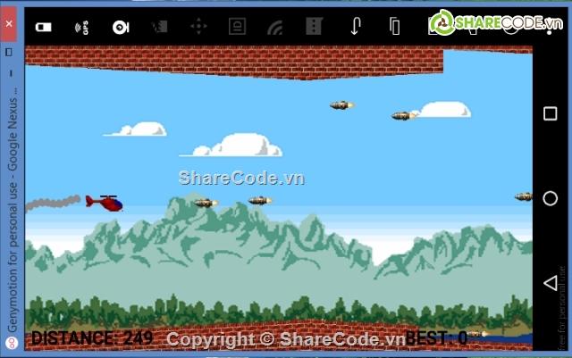 Android Studio Source code game Bắn máy bay dành cho người mới học animation
