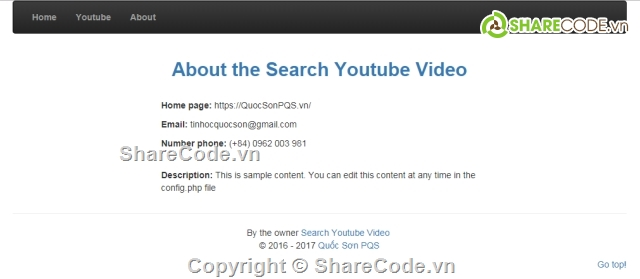 Bộ code Search Video Youtube and Watch Video Youtube bằng API