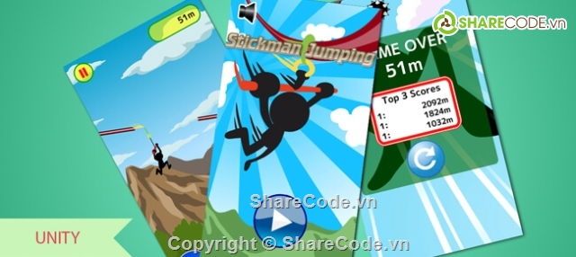 Buy Stickman Jumping App source code