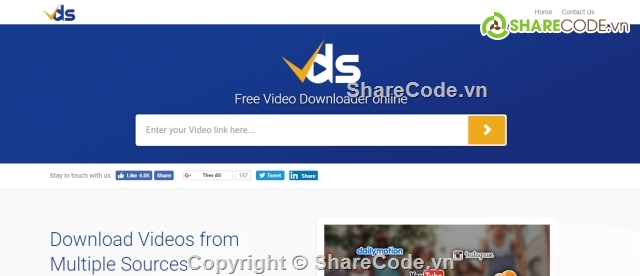 Code web getlink download ảnh, video youtube, insagram, imgur cực đẹp