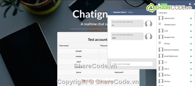Free Source code chat real time php with ajax