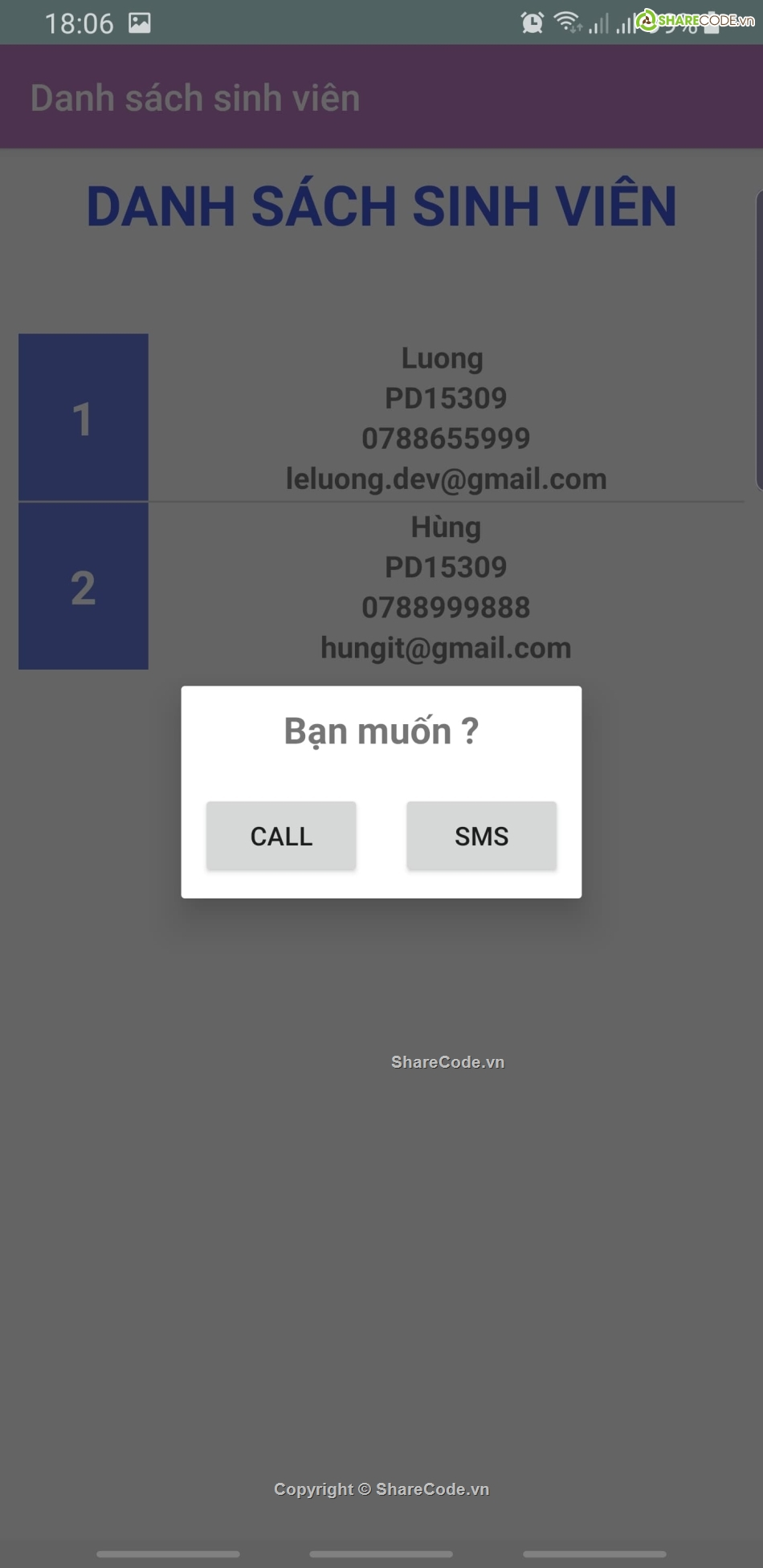 Assignment Android,Sqlite in Android,Assignment,android quản lý sinh viên,Quản lý sinh viên