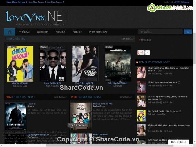 Free phim3s movie website template psd titanui.