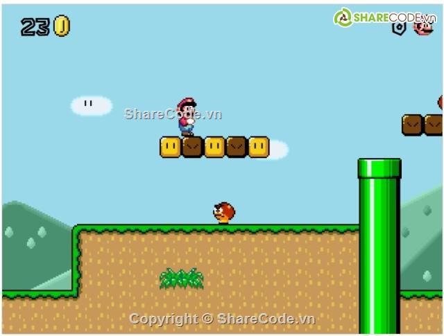 Share Code Game Mario Bằng HTML Javascript Free - writes
