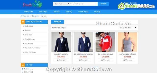 code php thuần,web bán hàng php,Đồ án web PHP,web bán hàng,web thời trang