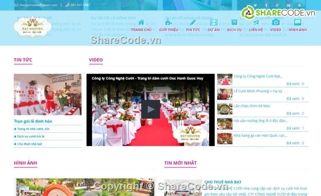 tổ chức sự kiện,website tin tức,website cưới hỏi,website dịch vụ,website sự kiện