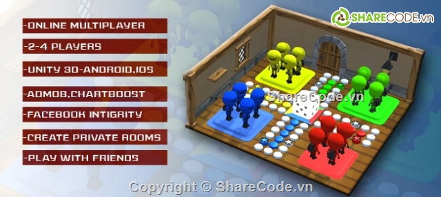 Source code Game Ludo Multiplayer 3D