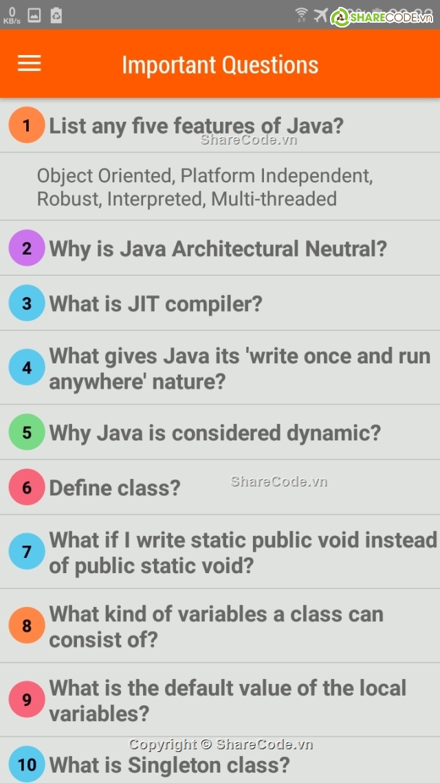 Source code learn Java trên android