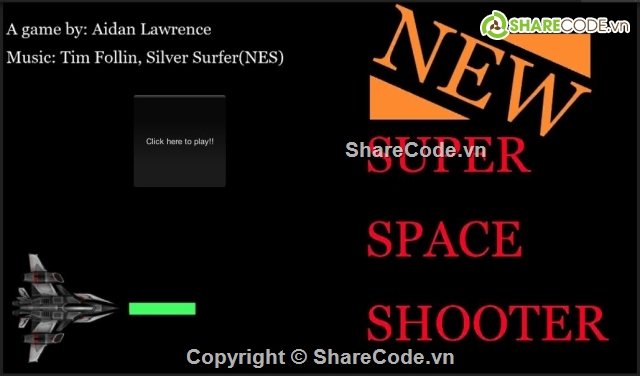 Super Space Shooter - Simple 2D Game For Learn!!! - Free Download