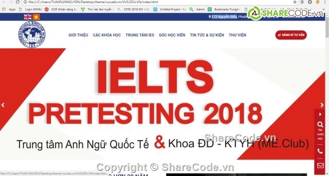 code web giống vus.edu.vn,trường học,Template VUS.EDU.VN,web giáo dục