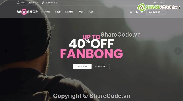 www.123nhanh.com: Theme Website Bán Quần Áo Online Tiêu Chuẩn Quốc Tế Cực