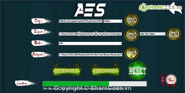 Thuật toán mã hóa file dữ liệu: DES, RSA, AES, HASH C#
