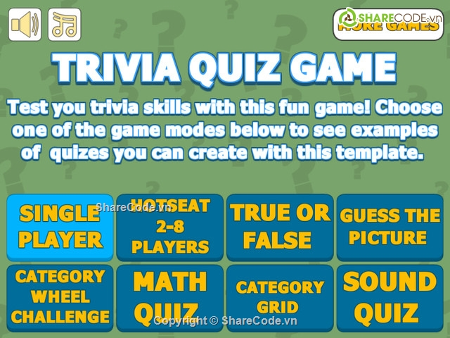 Trivia Quiz Game Template - Complete Unity Game Template