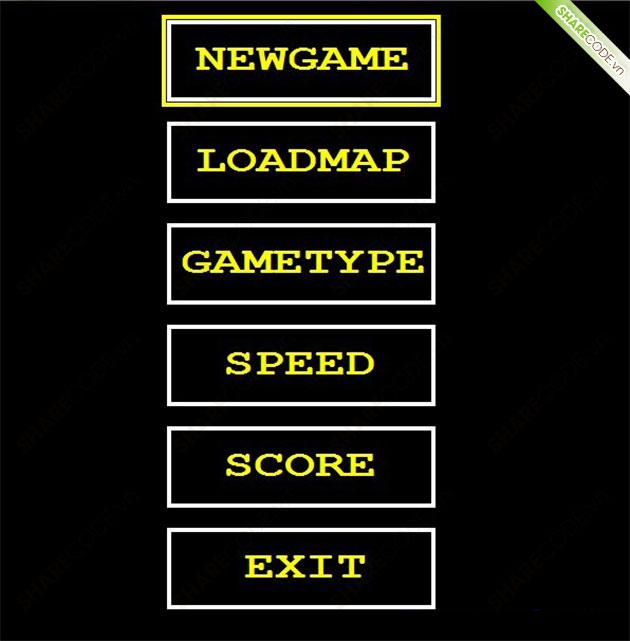 Source code game rắn săn mồi SNAKE C++