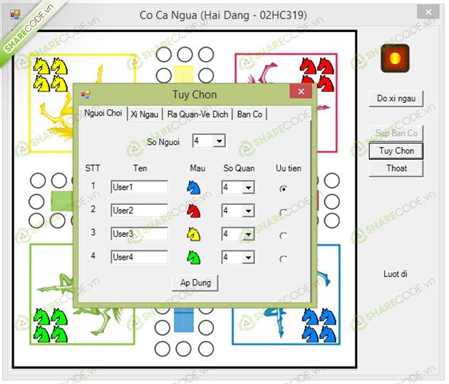 Cờ cá ngựa online trò chơi game co ca ngua   game24h.